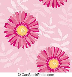 Culo floral rosado