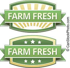 cultive fresco, alimento, etiqueta