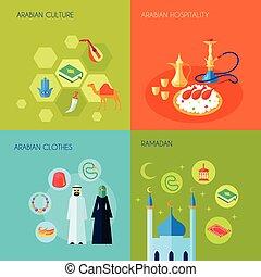 Cultura árabe plana