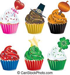 cupcakes de vacaciones
