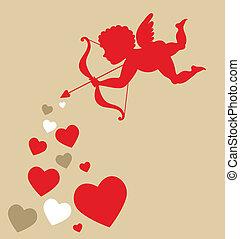 Cupido de corazones