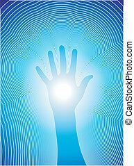 Curando la mano con líneas de reiki