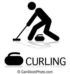 curling, icono