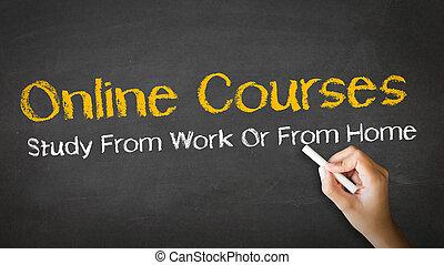 Cursos online ilustración de tiza