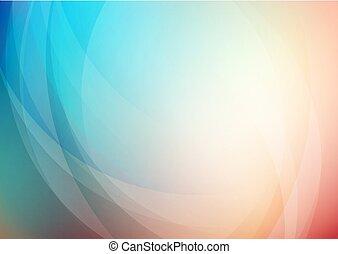 curvo, plano de fondo, resumen, colores