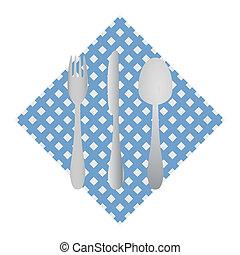 Cutlery en una servilleta