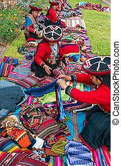 cuzco, mujeres, andes, handcraft, peruano, venta, perú