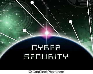 cybersecurity, hightech, guardia, 2d, tecnología de ilustración, seguridad