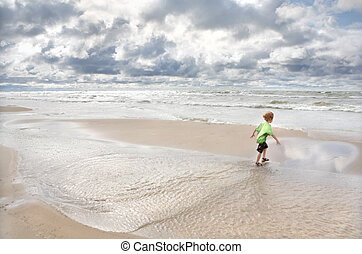 Día borroso en la playa