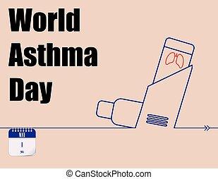 Día de asma mundial de posters