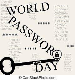 Día de contraseña del mundo de los posters
