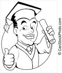 Día de graduación, carácter vectorial