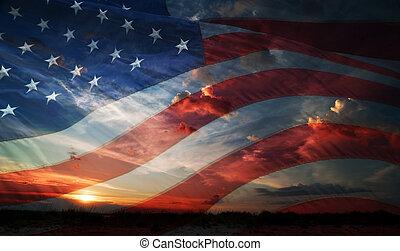 Día de la independencia. Bandera