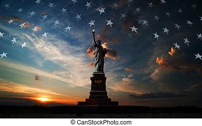 Día de la independencia. Libertad iluminando el mundo