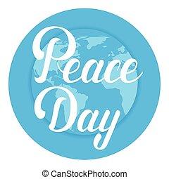 Día de la paz mundial poster internacional de vacaciones