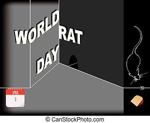 Día de las ratas del mundo de los posters