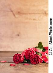 Día de San Valentín con rosas rojas