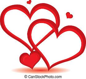 Día de San Valentín rojo fondo del corazón. Ilustración del vector.