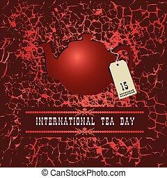 Día del té del mundo de los posters
