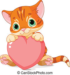 día, gatito, valentines
