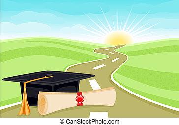 día, graduación