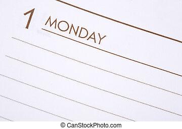 día, lunes, uno