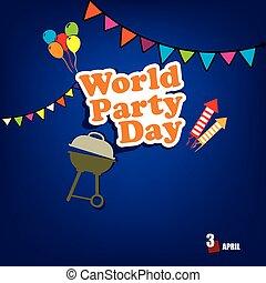 día, mundo, fiesta