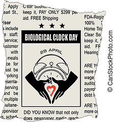 día, reloj, biológico, clasificado