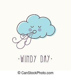 día ventoso