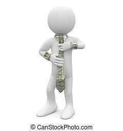 dólar, corbata, ejecutivo
