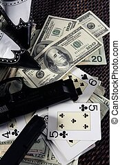 dólares, gángster, juego, clasic, mafia, todavía, armas de fuego