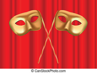 dúo, máscara, etapa
