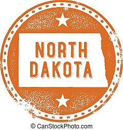 dakota, estampilla, estado, norte, estados unidos de américa