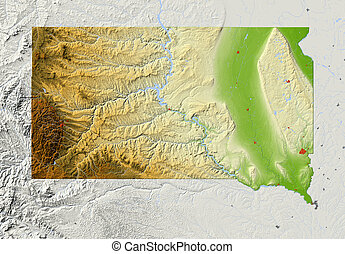 Dakota Sur, mapa de socorro