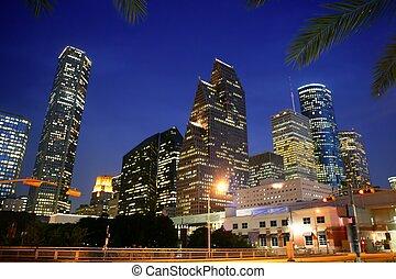 Dallas en el centro de la ciudad, la vista de las urbanizaciones