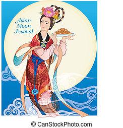 Dama de las hadas asiáticas - a mediados de otoño