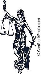 dama, femida, justicia