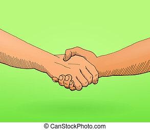 Darle la mano a la ilustración