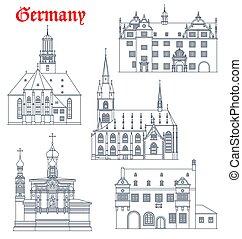 darmstadt, alemán, alemania, señales, arquitectura