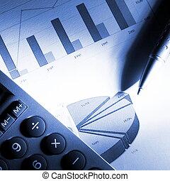 datos, financiero, analizar