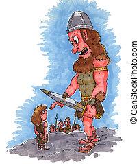 david, goliath