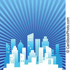 De bienes raíces azules