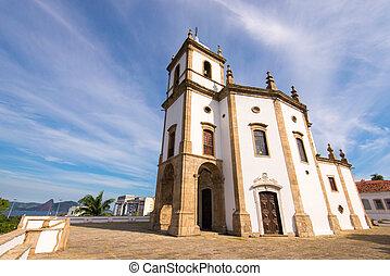 de, brasil, iglesia, río, gloria, janeiro