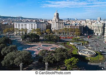 de, -, catalunya, barcelona, placa, españa