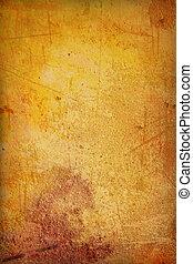De color amarillo y marrón, o textura antigua
