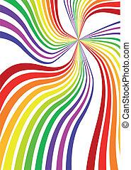 De fondo arco iris
