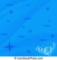 De fondo marino vector