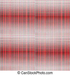 De fondo rojo con puntos