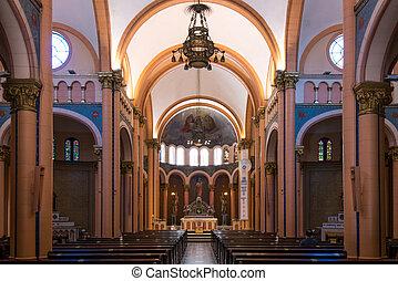 de, janeiro, iglesia, río, interior, católico