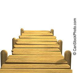 de madera, amarra